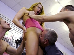 Blonde woman just wanted a rough fuck
