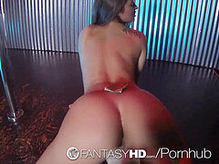 HD FantasyHD - hot honey Dani Daniels pokes guy at strip club