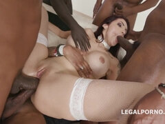 Amina Danger Rough Group Fuck with Double Anal