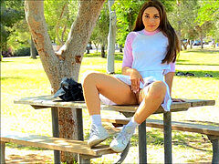 Kelly FTV - breaking virginity Public Park