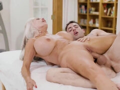 Amazing bit tits mature Sally Dangelo fucked by younger guy