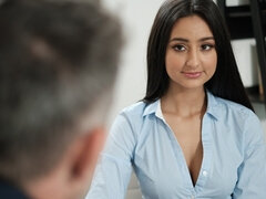 Hot secretary and moreover her big cocked boss