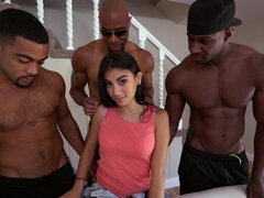 Michelle Martinez in hardcore interracial gangbang with anal