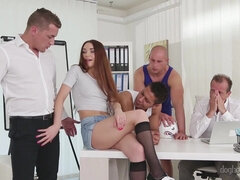 crazy gangbang video with hot Stacy Snake