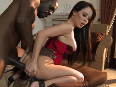 Slim Sandra Luberc loves anal sex and big black cocks, today she got it all