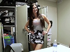 Backroom brunette blowjobs