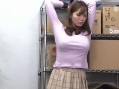 Seductive small titted Japanese maried lady