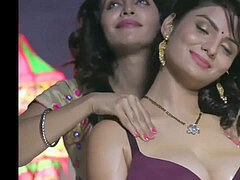 sizzling Indian lesbos kissing