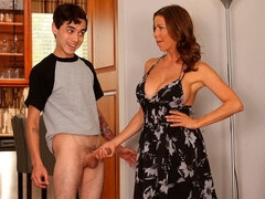 Big-boobed brunette Alexis Fawx screwed by an innocent young man