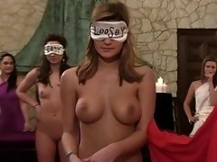 Blindfolded & naked they had to play Marco Polo
