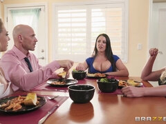 3 on 1 foursome with hot pornstars Angela, Kagney and Phoenix.