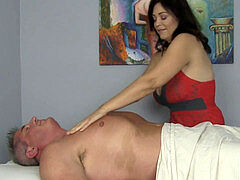 massage salon Milf Charlee Chase Makes Guy Cum two times!