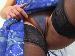 Hot British housewife Lelani playing with herself