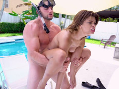 Destiny Cruz gets her pussy banged doggystyle poolside
