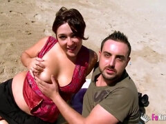 Spanish Amatuer Couple Picked Up On A Beach