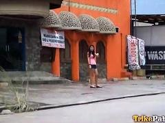 Cute young Filipina shamelessly fucks random foreign tourist on camera