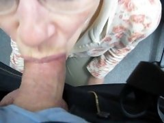 Cum tounge & swallow at the office