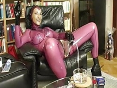 Pumped vagina in latex - fragment 1
