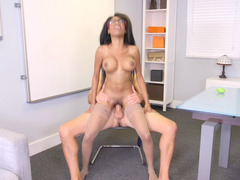 Sexy ebony darling is ready for get nailed by her handsome boss