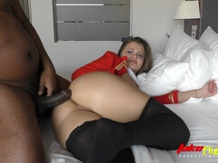 Flight Attendant Silvia B Fornicate By A Black Guy For Money - silvia burton