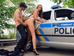 Stacy Cruz gets pussy banged by horny police officer