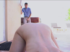 Smoking hot Cory Chase fucks Evan very rudely to teach him a lesson