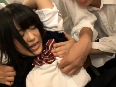 Hot japanese chick in nasty oriental team fuck