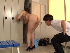 charming lady teacher writhes in high leg d feature segment 2
