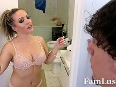 Hot Mom i`d like to fuck Gets down and dirty Nerdy Step-Son - FamLust