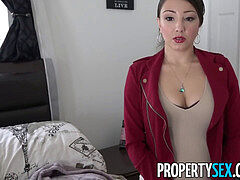 PropertySex - humungous ass Latina realtor tricked by perv into making intercourse flick