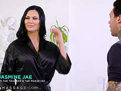 Nurumassage lubed up by his preceding teacher ms. Jasmine Jae