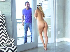Alexis Fawx seduces her son's friend, doing her housework in the nude