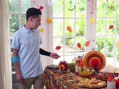 Cory punishes stepson for fucking her pumpkin pie