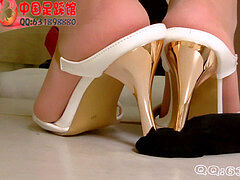 asian footjob & shoejob