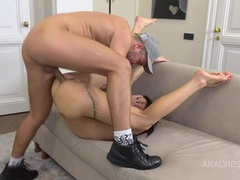 Nick brings  to anal orgasm! First squirting through anal! Katrin shocked