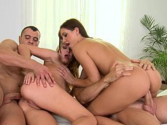 European broads love group sex