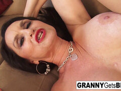 The very finest of grannie Gets big black cock