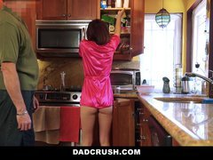 Undersized Step-Daughter Fucked In Kitchen