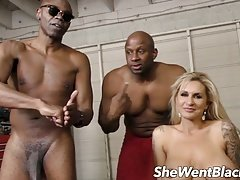 Sizeable Breast Mom i`d like to fuck Double Penetrated by Black Cocks