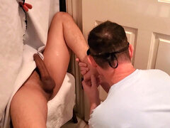 Tall super red-hot youthful Latino gets downright orally serviced at my gloryhole