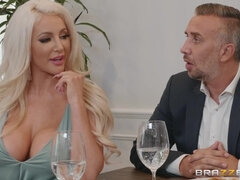Lela Star & Nicolette Shea got banged in the kitchen
