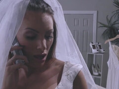 Bride Juelz Ventura lets the salesman fuck her in the ass in the store