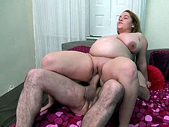 BBW Big Tits Mature preggo poked well Cowgirl rear end and Cum