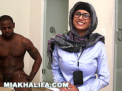 MIA KHALIFA - Your dearest Arab adult movie star stroking Two Cocks Just For Fun