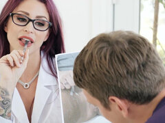 Doctor Monique Alexander treats her patient with a bj & some office fuck