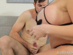 Alura Jenson - Nice wife gives a hand, and tittyfucks