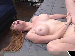 redhead Milf Getting A Cum In mouth For The first Time