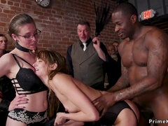 Bbc fuck hot slaves in orgy bdsm party