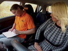 Milf Tiffany Rousso persuades driver instructor to give her licence