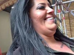 GERMAN SCOUT - Obese 18-19 year old Ashley Rough Fuck at Street Casting
